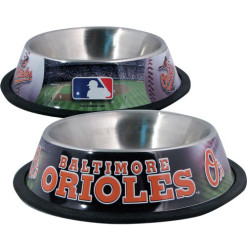 Baltimore Orioles stainless dog bowl