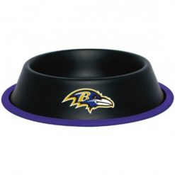 Baltimore Ravens Black Stainless Dog Bowl