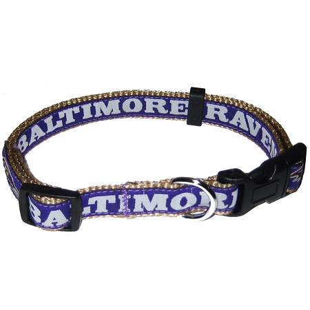 Baltimore Ravens NFL nylon dog collar