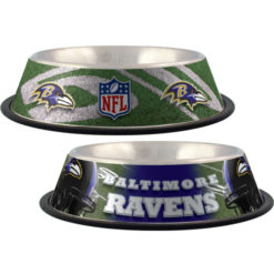 Baltimore Ravens NFL stainless dog bowl