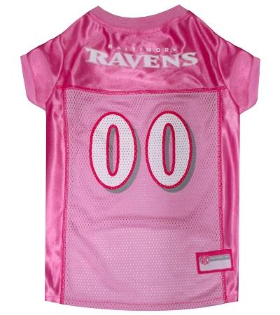 Baltimore Ravens Pink NFL Dog Jersey