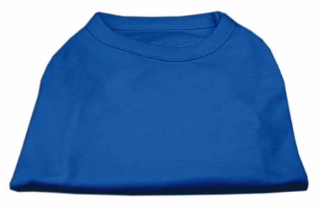 Basic Plain Blue sleeveless dog shirt