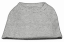 Basic Plain Gray sleeveless dog shirt