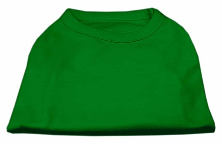 Basic Plain Green sleeveless dog shirt