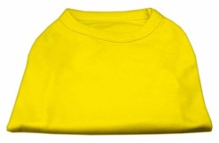 Basic Plain Yellow sleeveless dog shirt