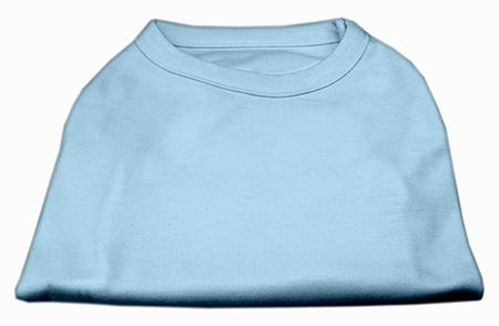 Basic Plain baby blue sleeveless dog shirt