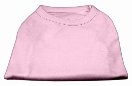 Basic Plain light pink sleeveless dog shirt