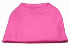 Basic Plain pink sleeveless dog shirt