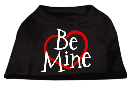 Be Mine sleeveless dog t-shirt black