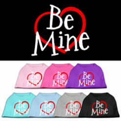 Be Mine t-shirt sleeveless dog multi colors
