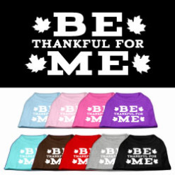 Be thankful for me t-shirt sleeveless dog multi colors