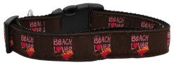 Beach Lover Nylon Dog Collar