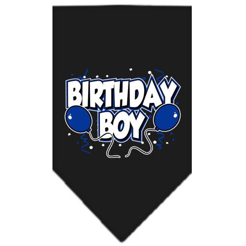 Birthday Boy Balloons dog bandana black