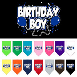 Birthday Boy Balloons dog bandanas