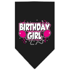 Birthday Girl Balloons dog bandana black