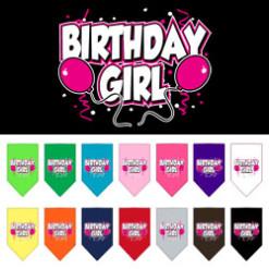 Birthday Girl Balloons dog bandanas