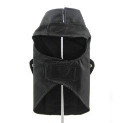 Black Born to Ride Motorcyle Dog Jacket back