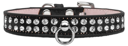 Black Dog Collar with Czech Crystals