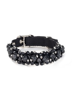 Black Fireball Dog Collar
