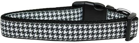 Black and White Houndstooth adjustable dog collar