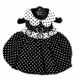 Black and White Polka Dot Dog Dress