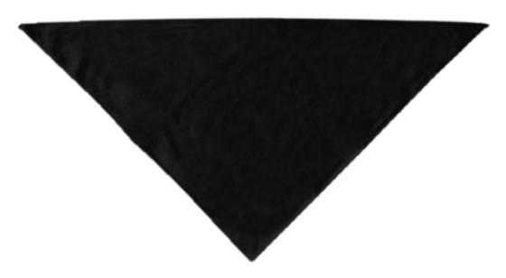 Black plain dog bandana