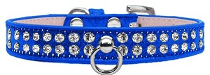Blue Dog Collar with Czech Crystals