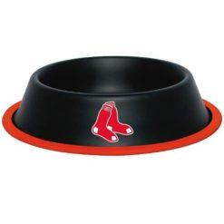 Boston Red Sox Black Stainless Dog Bowl