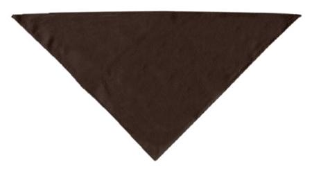 Brown plain dog bandana