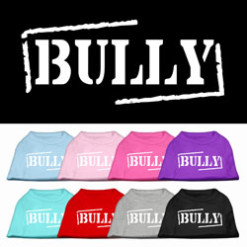 Bully sleeveless dog t-shirt multi colors