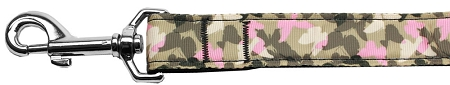 Camouflage pink Butterflies nylon dog leash