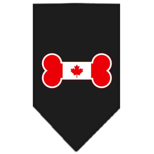 Canadian bone flag dog bandana black
