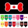 Canadian bone flag dog bandanas