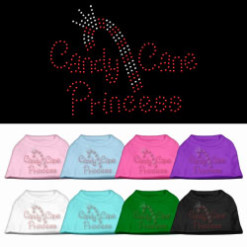 Candy Cane Princess rhinestone dog shirt