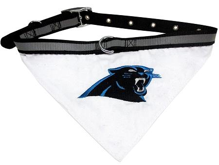Carolina Panthers NFL dog bandana and collar
