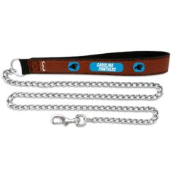 Carolina Panthers NFL leather chain dog leash