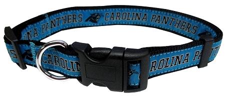 Carolina Panthers NFL nylon dog collar