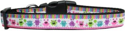 Celebratory Party Monsters adjustable dog collar