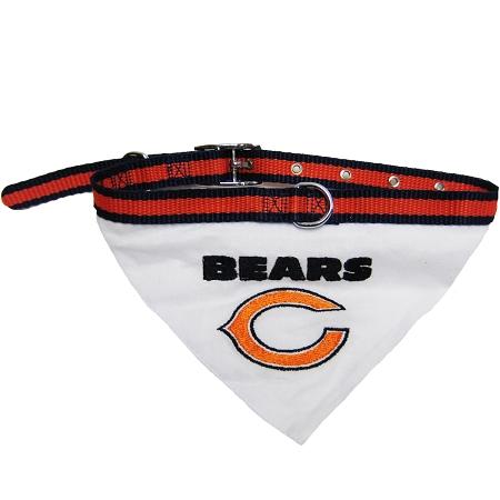 Chicago Bears NFL dog bandana and collar