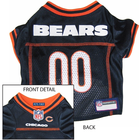 Chicago Bears Pet Dog Football Jersey Alternate LARGE NFL Unique ...