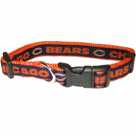 Chicago Bears NFL nylon dog collar