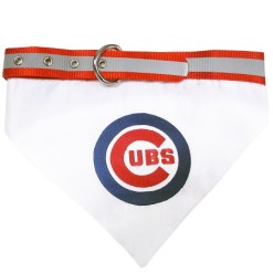 Chicago Cubs adjustable dog collar and bandana