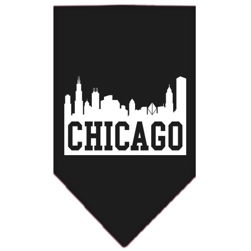chicago skyline silhouette screen print dog bandana petimpulse com
