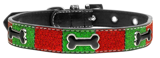 Christmas Bones Adjustable Dog Collar