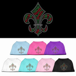 Christmas Fleur de lis rhinestones dog t-shirt color