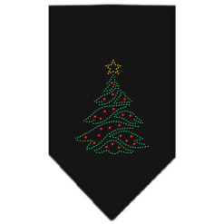 Christmas tree ornaments rhinestone bandana black