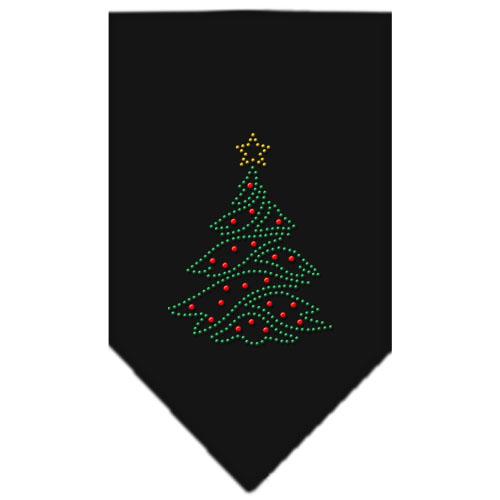 Christmas tree ornaments rhinestone bandana black