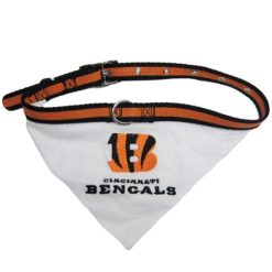Cincinnati Bengals NFL adjustable dog collar and bandana
