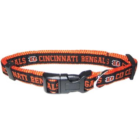 Cincinnati Bengals NFL nylon dog collar