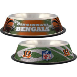 Cincinnati Bengals NFL stainless dog bowl